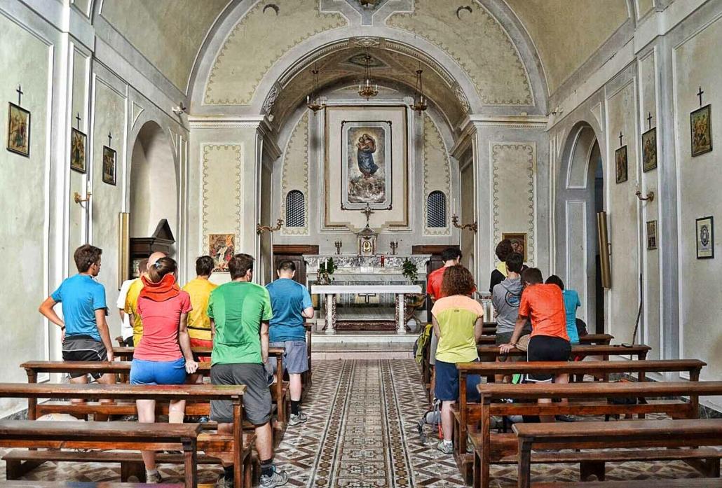 Partenza - Cappella Suore Casa Lazzaro